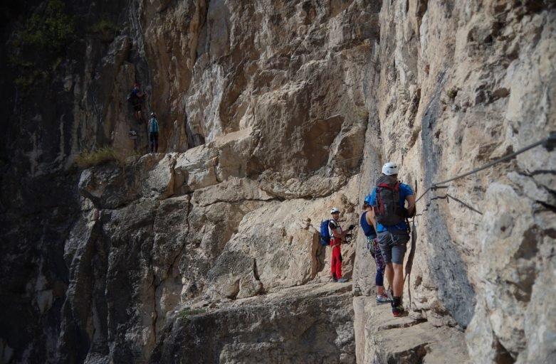 Trawers na ferracie Monte Albano, Mori, Włochy, absorber