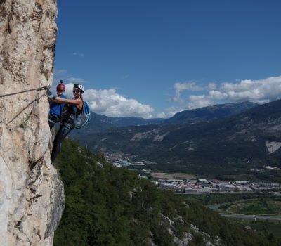 Widokowa, sportowa Via ferrata Monte Albano - Obóz ferratowy w Arco