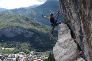 Obóz wspinaczkowy w Arco, via ferrata Monte Albano