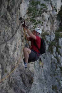 Via ferrata Sentiero dei Contrabbandieri nad jeziorem Garda, kurs