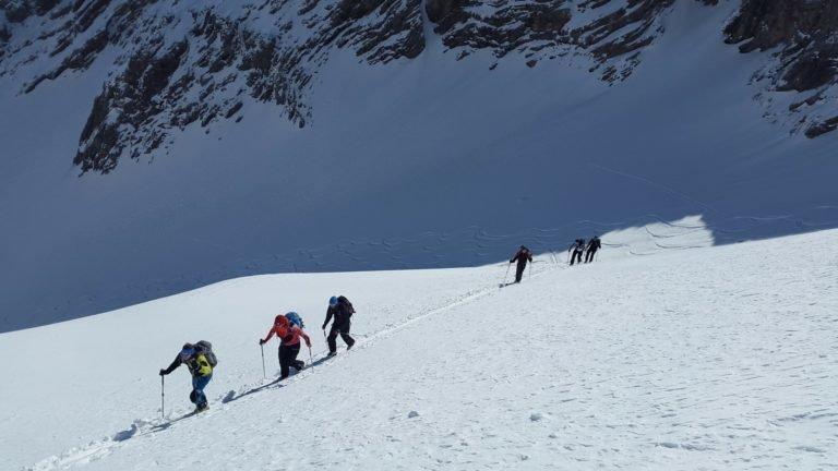 Szkolenie skiturowe w Tatarch - podejście