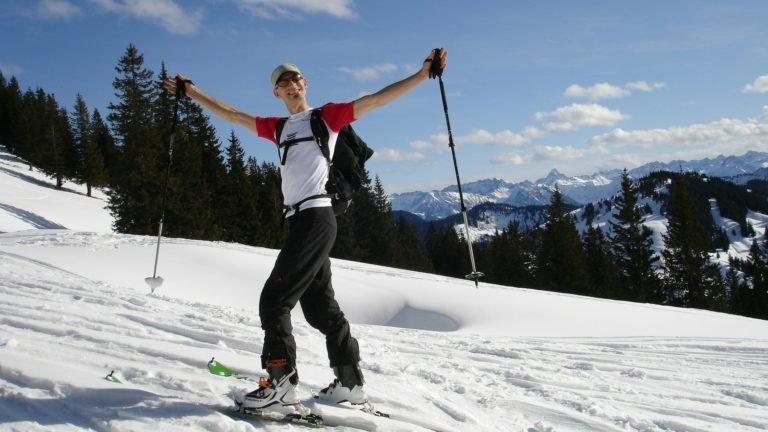 Uczestnik obozu skiturowego