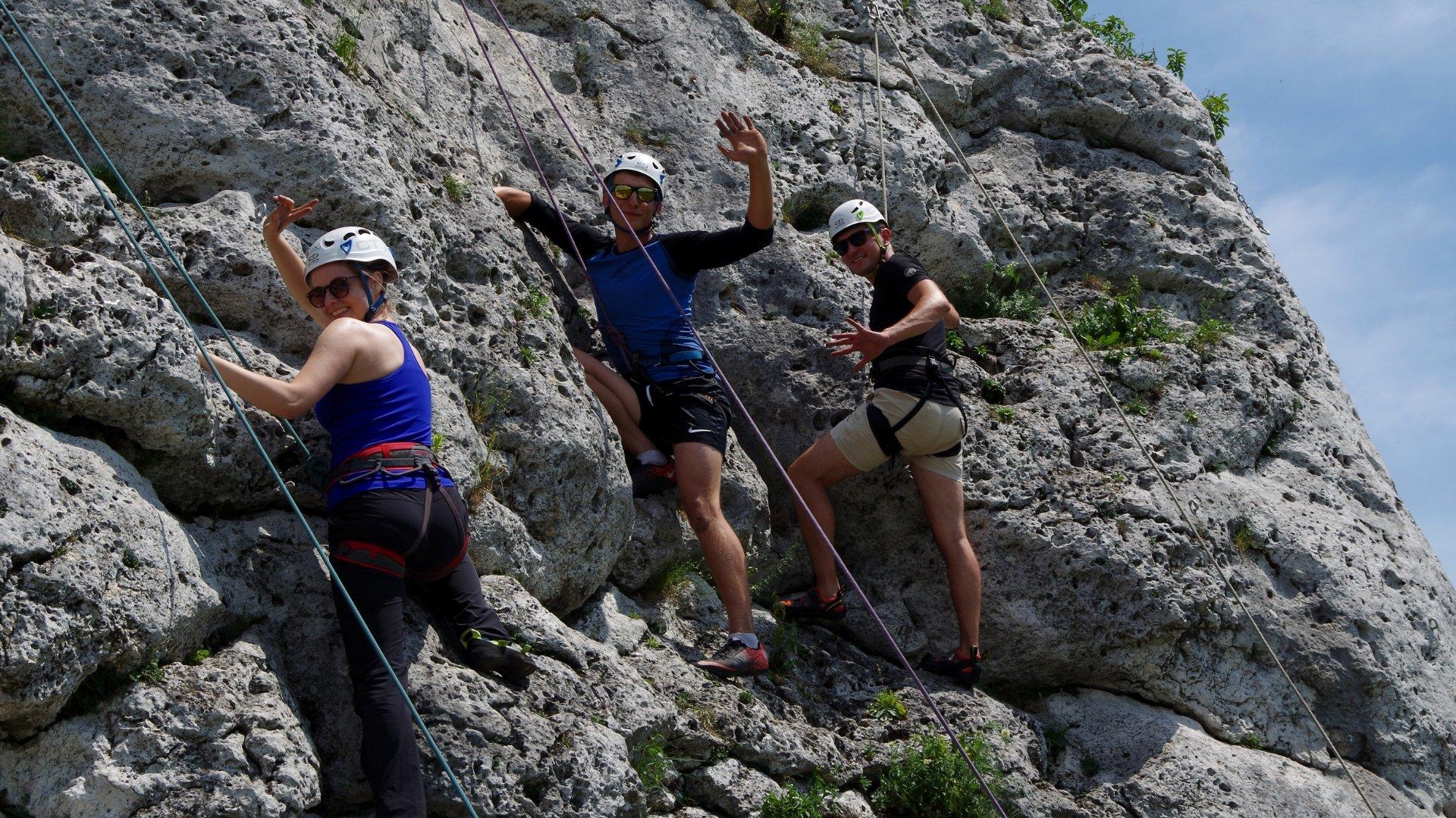 Wspinanie w skałkach podczas Climbing Day