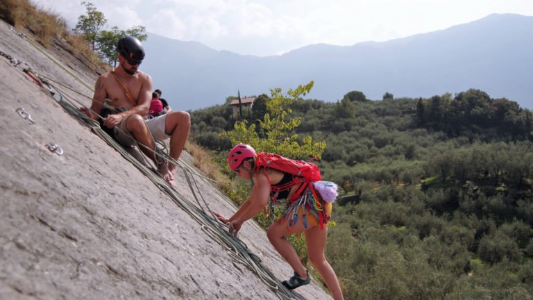 Wspinanie w rejonie wspinaczkowym Baone - Arco