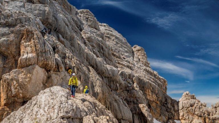 Klettersteig Schulter - zejście ze szczytu Dachstein