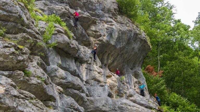 dolina Hollental - nauka poruszania się po ferracie
